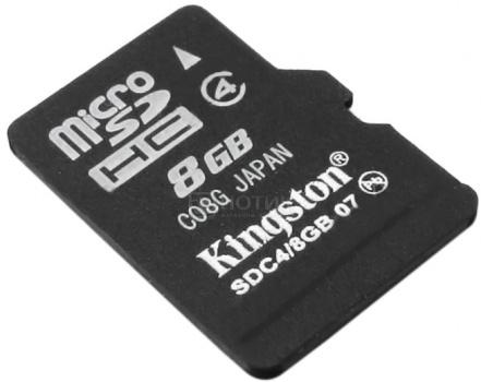 Карта памяти Kingston microSDHC 8Gb class4 SDC4/8GBSP