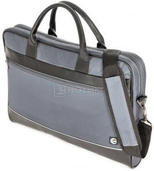 """Фотография товара сумка 17,3"""" Cross Case CC17-014, Кожа/Нейлон, Черный/Серый (17750)"""
