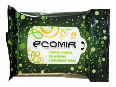 Влажные салфетки  Ecomir 24228 40шт. НОТИК 100.000