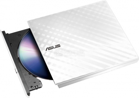 Привод оптический внешний DVD-RW ASUS White Slim Ret. Karim Rashid Collection SDRW-08D2S-U LITE, USB, Белый 90-DQ0436-UA221KZ от Нотик