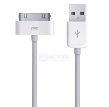 Кабель для iPhone/iPad/iPod Apple 30-pin/USB 2.0 MA591G/B Белый