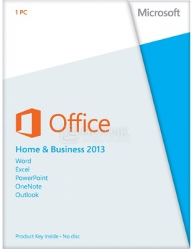 Программное обеспечение Microsoft Office Home and Business 2013 32/64 Russian Russia Only EM DVD No Skype T5D-01763 от Нотик