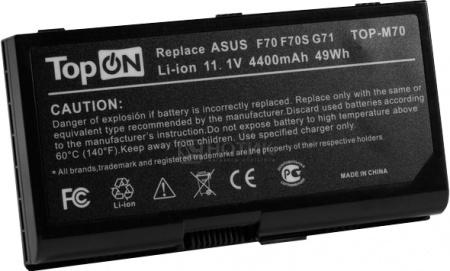 Аккумулятор TopON TOP-M70 11.1V 4800mAh для Asus PN: A32-F70 A32-M70 A32-N70 A41-M70 A42-M70 L0690LC L082036 аккумулятор для ноутбука oem 5200mah asus n61 n61j n61d n61v n61vg n61ja n61jv n53 a32 m50 m50s n53s n53sv a32 m50 a32 n61 a32 x 64 33 m50 n53s n53 a32 m50 m50s n53s n53sv a32 m50
