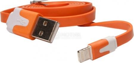Фотография товара кабель IQfuture для iPhone, iPad, iPod Apple Lightning port/USB 2.0 IQ-AC01/O, Оранжевый (25110)