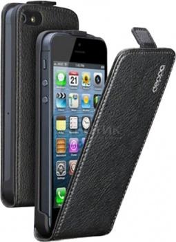 Чехол для iPhone 5 Deppa Flip Cover Кожа, Черный НОТИК 890.000