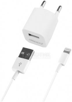 Сетевое зарядное устройство Deppa 11305 для Apple с разъемом Lightning (8-pin) Белый