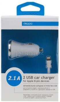 Автомобильное зарядное устройство Deppa 11209 для Apple с разъемом Lightning (8-pin) Белый от Нотик