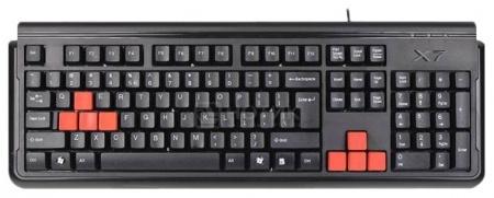 Клавиатура проводная A4Tech X7-G300, PS/2, Черный
