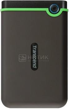 """Внешний жесткий диск Transcend 1Tb TS1TSJ25M3 StoreJet 25M3 2.5"""" USB 3.0 Черный/Зеленый, арт: 25813 - Transcend"""