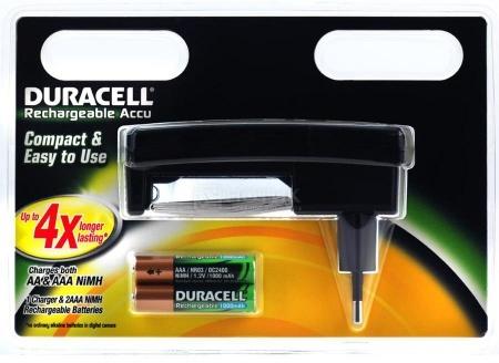 Аккумулятор + зарядное устройство Duracell CEF24, 2 шт AAА, 1000мAч НОТИК 500.000