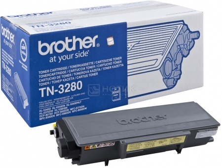 Картридж Brother TN-3280 для HL-5340D HL-5350DN HL-5370DW DCP-8070D DCP-8085DN MFC-8370DN MFC-8880DN 8000стр, Черный