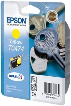 Картридж Epson T0474 для Stylus С63, Желтый C13T04744A10 от Нотик