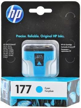 Картридж HP 177 для Photosmart 3213 3313 8253, Голубой C8771HE картридж hp 177 c8719he к ps 3313 3213 8253 черный c8719he