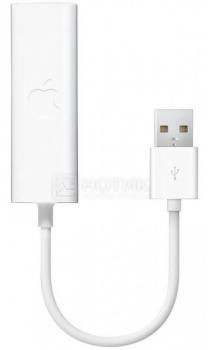 Фотография товара сетевой адаптер Apple USB Ethernet MC704ZM/A, Белый (26634)