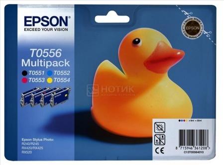 Набор картриджей струйных Epson C13T05564010 для Stylus Photo R240/RX520, Черный, Голубой, Пурпурный