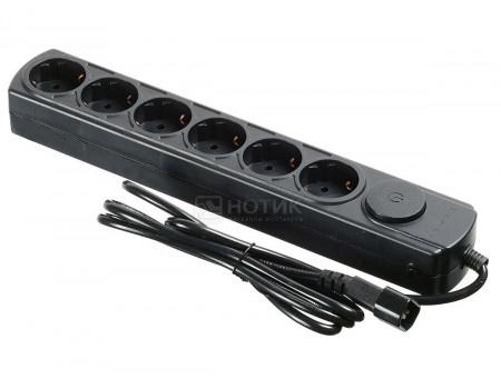 Сетевой фильтр Ippon BK112 для ИБП, 1.8м (6 розеток) черный (коробка)