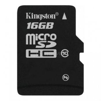Карта памяти Kingston microSDHC 16Gb Class10 SDC10/16GBSP от Нотик
