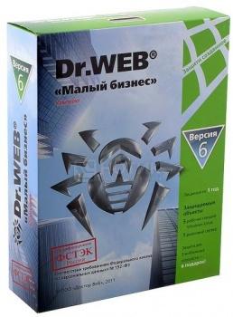 Программный продукт Dr.Web Малый бизнес. Регистрационный ключ на 1 год на 5 ПК и 1 сервер (BOX) BBZ-C-12M-5-A3Dr.Web<br>Программный продукт Dr.Web Малый бизнес. Регистрационный ключ на 1 год на 5 ПК и 1 сервер (BOX) BBZ-C-12M-5-A3<br>