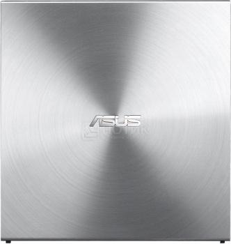 Привод оптический внешний DVD-RW ASUS SDRW-08U5S-U/SIL/G/AS, USB, Серебристый 90DD0112-M20000