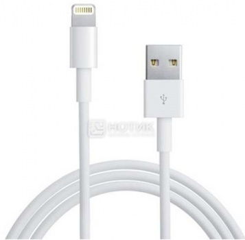 Кабель Deppa 72114 для iPhone, iPad, iPod Apple Lightning port/USB, 1,2м, Белый