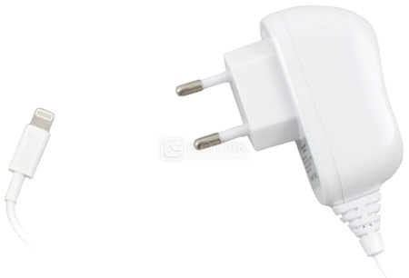 Сетевое зарядное устройство Deppa 23137 для iPhone, iPad, iPod Apple с разъемом 8-pin, Белый