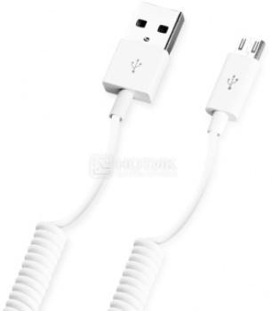 Кабель Deppa 72122 USB-microUSB витой, 1,2м, Белый