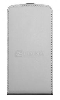 """Чехол-книжка 5"""" Clever Case для Samsung Galaxy S4 GT-i9500 Кожа, Белый НОТИК 490.000"""