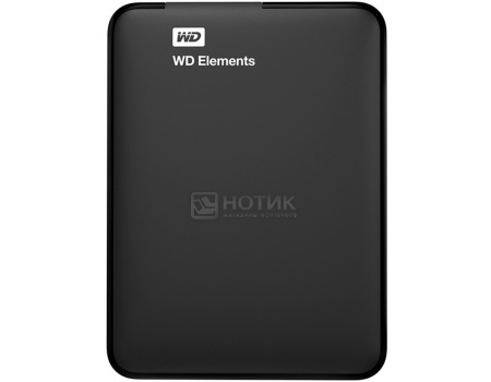 "Внешний жесткий диск Western Digital 1Tb WDBUZG0010BBK-EESN Elements Portable 2.5"" USB 3.0, Черный"
