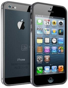 Чехол для iPhone 5 Deppa Slim Bumper Прорезиненный пластик, Черный от Нотик