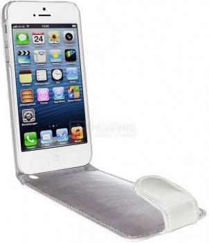 Чехол для iPhone 5 ArtWizz SeeJacket Leather Flip, Кожа, Белый НОТИК 1300.000