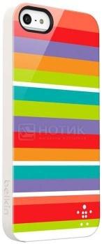 Чехол для iPhone 5 Belkin Shield Stripe Пластик, Разноцветный/Белый НОТИК 1100.000