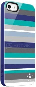 Чехол для iPhone 5 Belkin Shield Stripe Пластик, Разноцветный/Синий НОТИК 1100.000