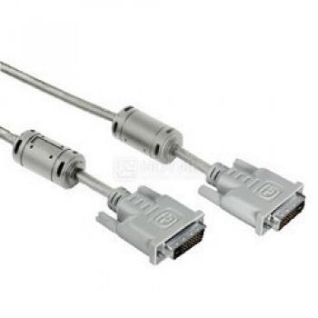 Кабель Hama DVI Dual Link (m-m) 3м, Серый НОТИК 800.000