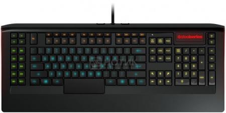 Клавиатура проводная SteelSeries Apex, 2xUSB2.0, Multimedia Gamer LED 16.8 миллионов цветов, Черный