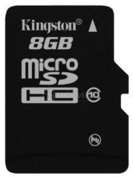 Карта памяти Kingston microSDHC 8Gb Class10 + adapter НОТИК 450.000