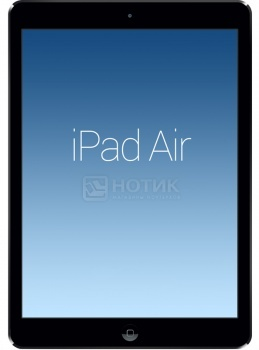 "Планшет Apple iPad Air 32Gb Wi-Fi + Cellular (iOS/A7 1400MHz/9.7"" (2048x1536)/1024Mb/32Gb/4G LTE 3G (EDGE, HSDPA, HSUPA)) [MD792RU/B] от Нотик"