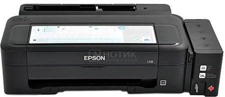 Принтер струйный Epson L110 A4, 27 стр/мин, 5760 optimized dpi, 4 краски, USB2.0 Черный C11CC60302 от Нотик