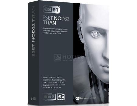 Программный продукт ESET NOD32 TITAN version 2. Регистрационный ключ на 3 ПК и 1 мобильное устройство на 1 год NOD32-EST-NS(BOX2)-1-1