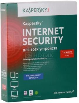 Программный продукт Kaspersky Internet Security Multi-Device Russian Edition. Регистрационный ключ на 5 ПК на 1 год KL1941RBEFS (BOX)
