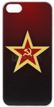 Чехол-накладка Anzo Red Star для iPhone 5/5S, Пластик, Красный 1955-F289 НОТИК 500.000
