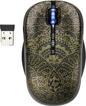 Мышь беспроводная HP Alexandre Hercovitch Special Edition H2P31AA, 1600dpi, Черный/Золотой НОТИК 1190.000
