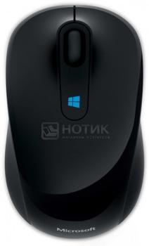 Мышь беспроводная Microsoft Sculpt Mobile 43U-00004, 1000dpi, Черный мышь microsoft mobile mouse sculpt розовый 43u 00020