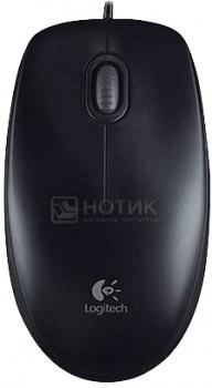 Мышь проводная Logitech B100 910-003357, 800dpi, Черный