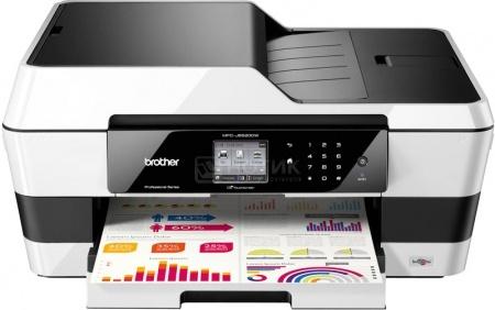 МФУ струйное цветное Brother MFC-J3520, A3, ADF, 35/27 стр/мин, факс, USB, LAN, WiFi, Черный/Белый MFCJ3520R1
