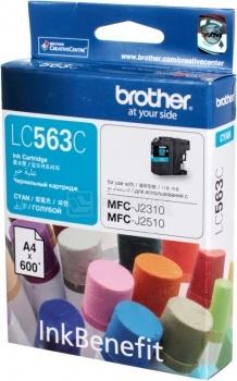 Картридж Brother LC-563C для MFCJ2310 2510 3520 3720 600стр, Голубой LC563C