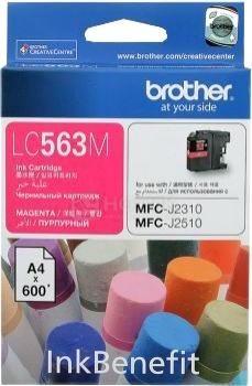 Картридж Brother LC-563M для MFCJ2310 2510 3520 3720 600стр, Пурпурный LC563M