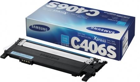 Картридж Samsung CLT-C406S для CLP-360 365 365W 410W, 1000 стр, Голубой CLT-C406S/SEE от Нотик