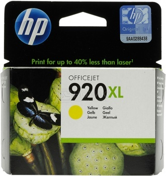 Картридж HP 920XL для Officejet 6000 6500 7000 7500A желтый CD974AE