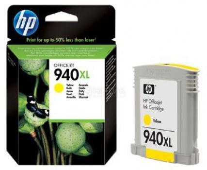 Картридж HP 940XL для Officejet Pro 8000 8500 8500A  Желтый C4909AE