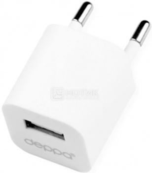 Сетевое зарядное устройство Deppa 11301, USB, Белый